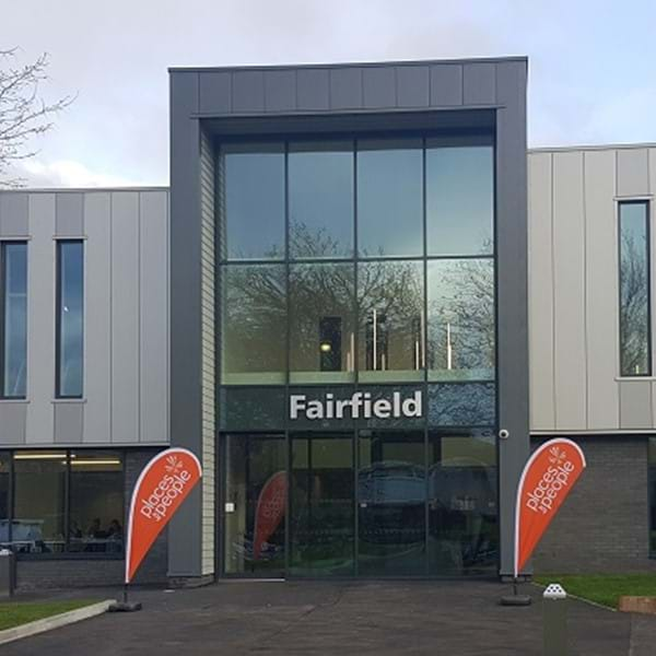 Front of Fairfield Leisure Centre